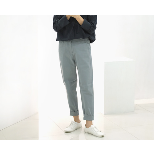 L 세미배기 cotton pants